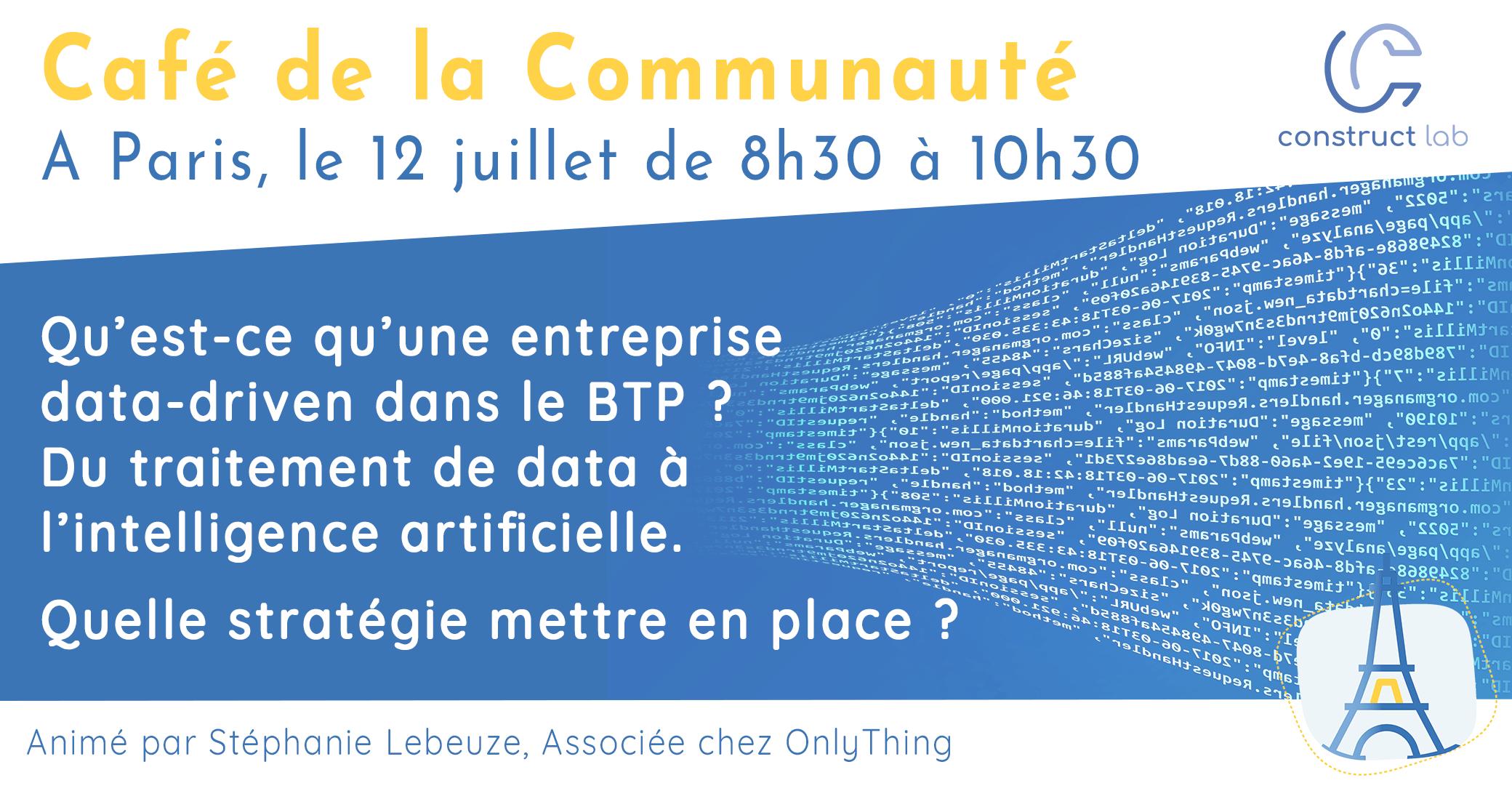 Visuel Café de la communauté Paris 12/07/19